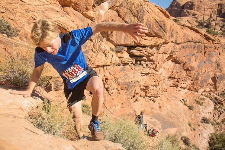 2015 Tayte places third at the USATF Trail Marathon Championships in Moab, UT, finishing his first marathon.