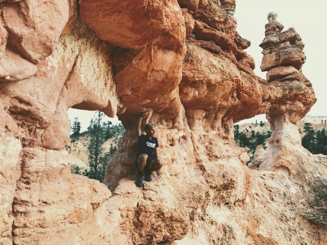 2017 Tayte plays in the red rocks of Bryce Canyon National Park in his home state of Utah